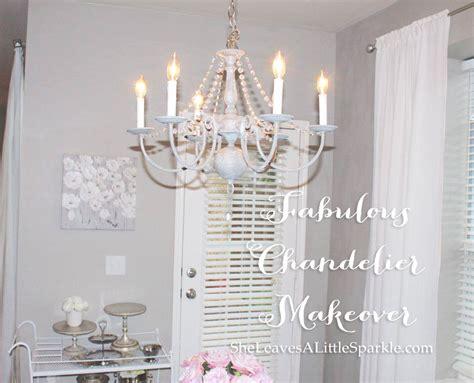 Diy Painted Chandelier Fabulous Chandelier Makeover Summer