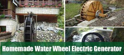 water wheel electric generator self sufficiency