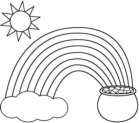 printable rainbow coloring page god coloring pages