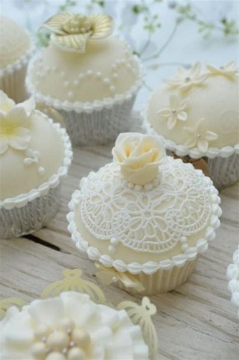 Bridal Cupcakes by Vintage Wedding Cupcakes By Hilary Cupcakes
