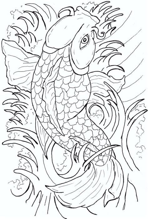 tattoo flash line art image gallery koi fish flash art