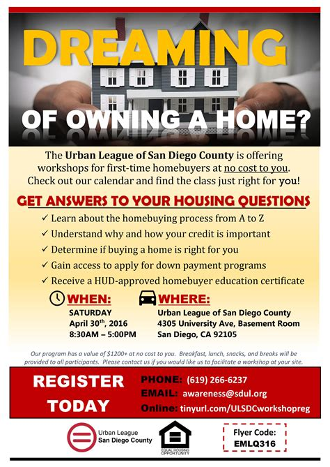 league of san diego county time homebuyer