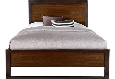 king size panel bed abbott hazelnut 3 pc king panel bed beds dark wood