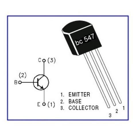 transistor bc557 pin configuration transistor bc547