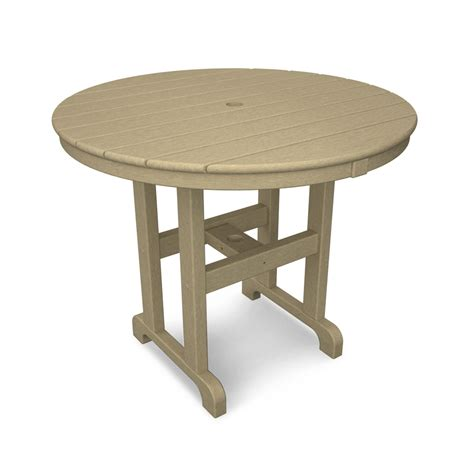 La Casa Caf 233 Sand Round 36 Inch Dining Table Polywood 36 Inch Patio Table