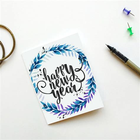 printable greeting cards for new year happy new year card printable new years card instant