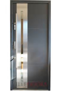 Contemporary Glass Entry Doors Quot New Yorker Quot Stainless Steel Modern Entry Door With Glass