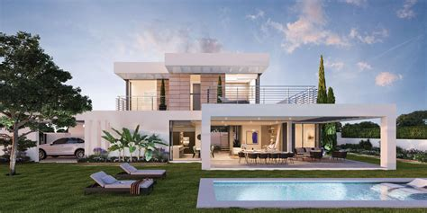 villa modern syzygy new modern villa with sea views near marbella for