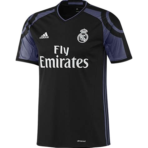 Jersey Real Madrid 3rd Away 1617 Sleeves Cetak Nama Patch adidas real madrid 16 17 third jersey youth black purple soccer center