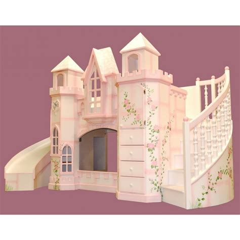 Castle Bunk Bed With Slide Bunk Loft Beds Features Tent Wayfair Princess Castle Size Tent Bunk Bed With Slide
