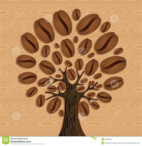 pattern matching over vector coffee beans tree stock vector image of coffee plant