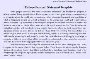 Personal Statement For College Template by Write The Best Personal Statement