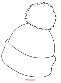 snow hat template winter hat picture coloring page