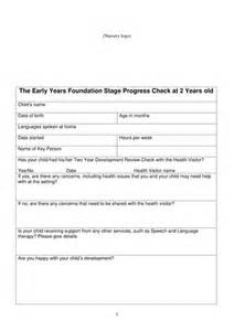 two year old progress check template eyfs by