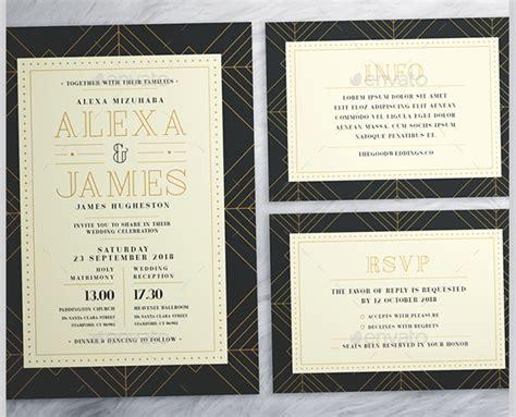 deco wedding invitations templates 29 deco wedding invitations free premium