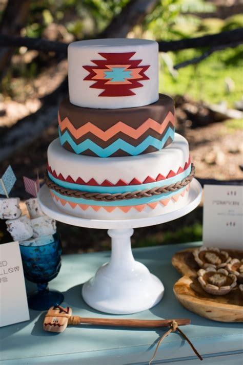 tribal pattern cake blog native american wedding ideas
