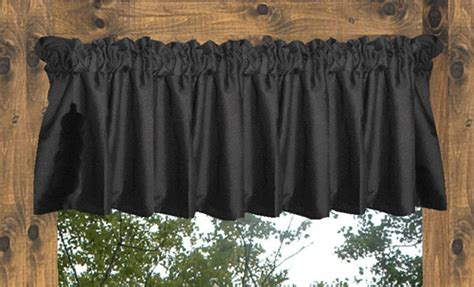 Black Valance Curtains Black Cafe Curtains