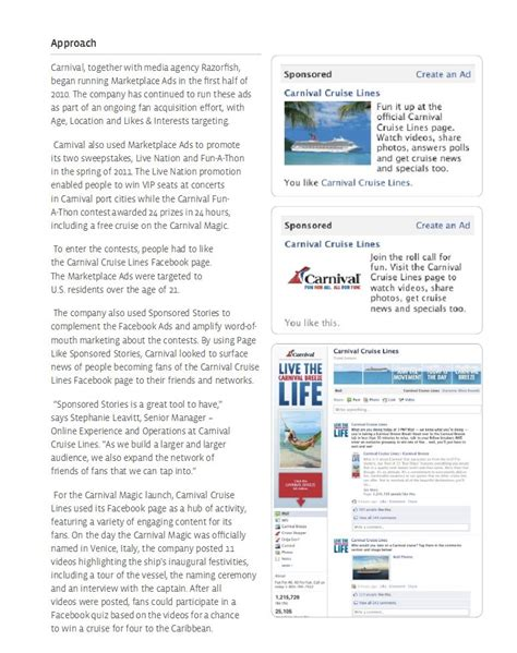 Can You Make Money Posting Ads Online - case study carnival cruise lines