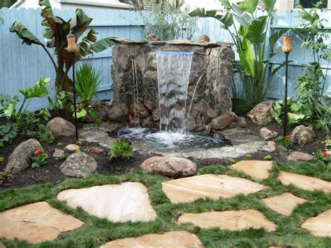 diy backyard waterfall outdoor water features diy shed pergola fence deck