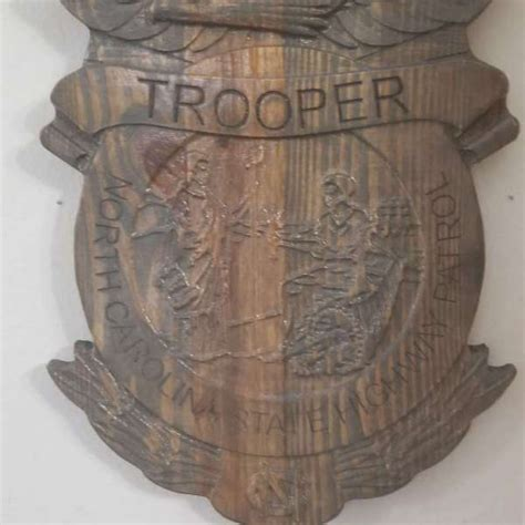 carved personalized north carolina state trooper