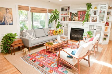 home tour mid century bohemian at the picadilly add cheer color pattern with these decor resources