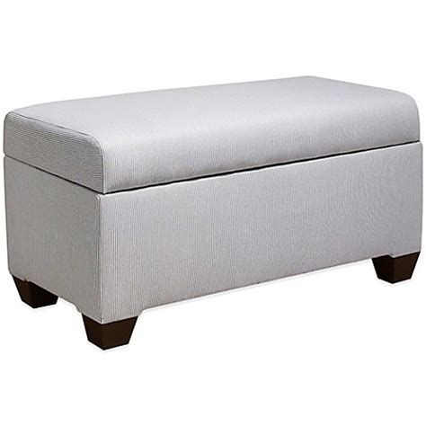 skyline furniture storage bench buy skyline furniture storage bench in oxford stripe