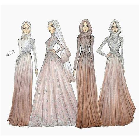 design dress muslimah 2017 fashion illustration hijab gown pinterest fashion