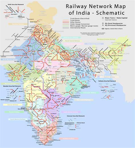 map us rail network information india travel forum indiamike