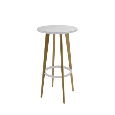 table ronde design blanche table de bar ronde design blanche harry s by drawer