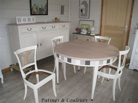 Salle A Manger Merisier Moderne by Patines Couleurs