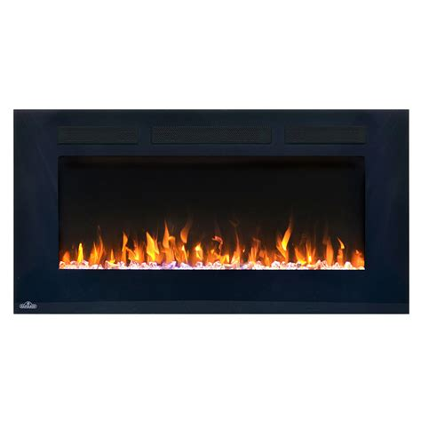 Napoleon Linear Wall Mount Electric Fireplace by Napoleon 50 Inch Wall Mount Electric Fireplace