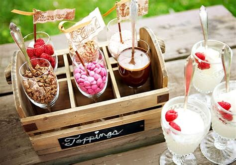 ice cream topping bar party with a k the blog beautiful flowery wedding