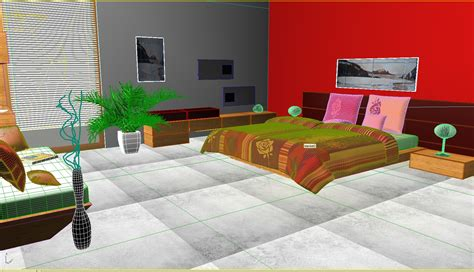 bed room seans bedroom 03 3d model max 3ds c4d 3dm cgtrader