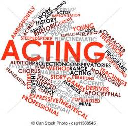 drawing of acting abstract word cloud for acting with