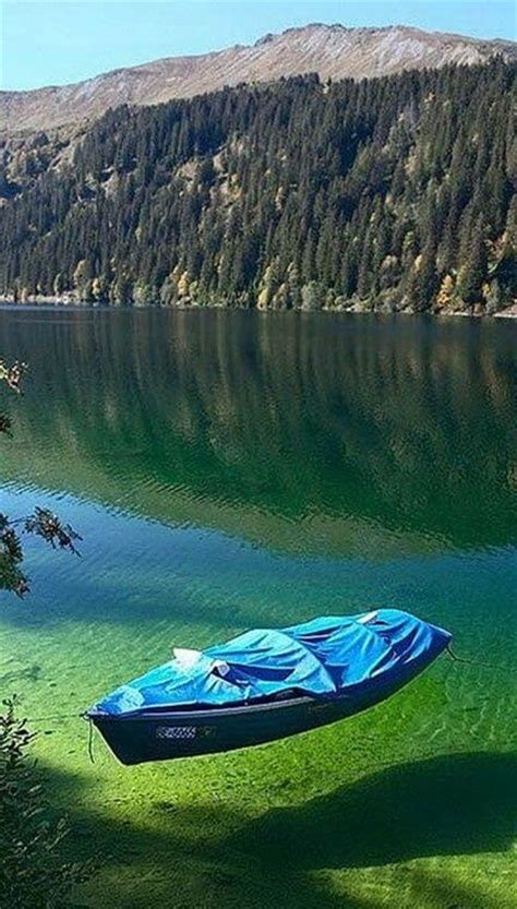 the crystal clear water of flathead lake montana makes it seem like the lake is shallow but it