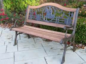 iron outdoor metal garden bench