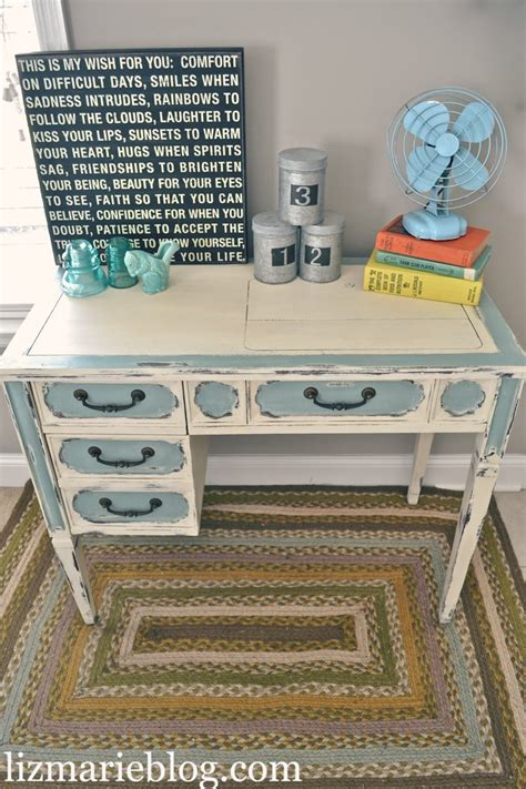 desk shabby chic shabby chic two toned desk