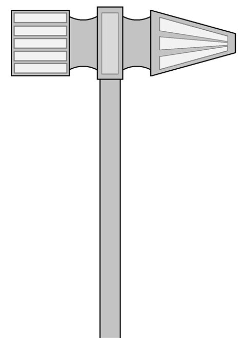 Idea 1 for custom hammer. Inspired by machine parts. The
