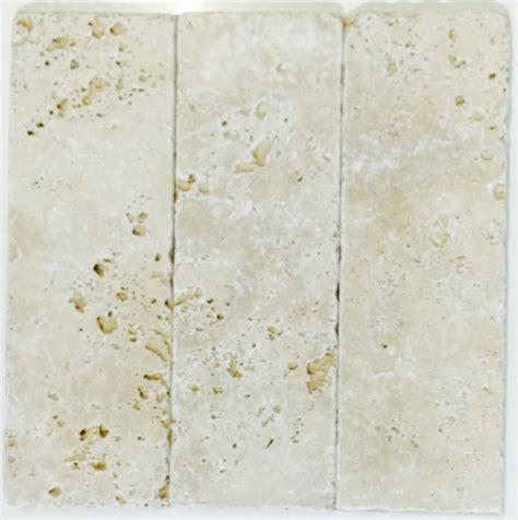 travertine ivory tumbled subway tile stone gallery