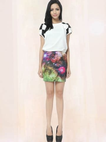 starry colorful pencil skirt galaxy pencil skirts
