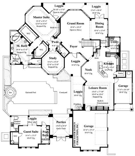 mediterranean floor plans mediterranean style house plan 4 beds 3 5 baths 4151 sq
