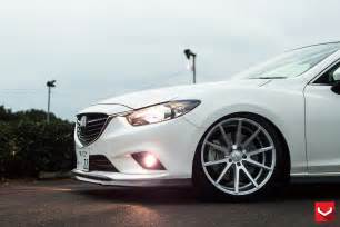 tuningcars mazda6 gets custom vossen wheels and carbon