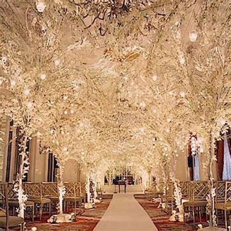wedding aisle decorations winter wedding decoration