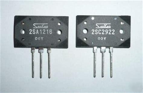 datasheet transistor sanken 2sc2922 pair of sanken audio output transistors