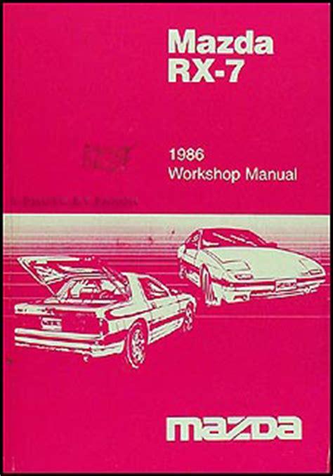 car repair manual download 1985 mazda rx 7 lane departure warning 1986 mazda rx 7 repair shop manual original