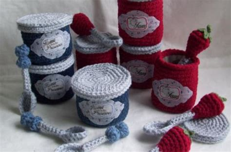 crochet pattern for jam jars foodista must have play kitchen crochet jam jar and spoon