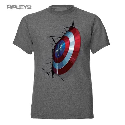 official t shirt marvel embedded shield captain
