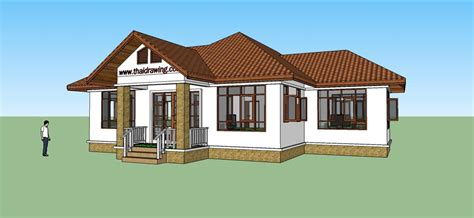 free house design thai drawing house plans free house plans
