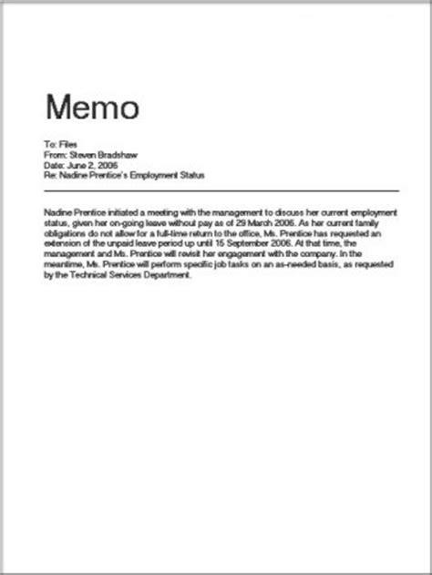 contoh memo resmi terlengkap