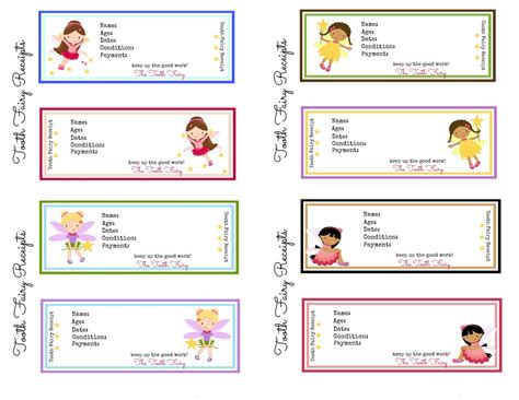 tooth receipt template free printable tooth receipts